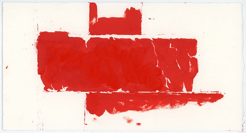 Red Drawing 07, 2017. Artist copyright © Susanna Heron.