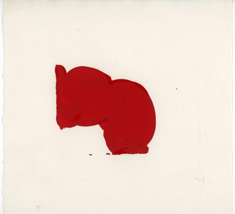 Red Drawing 03, 2015. Artist copyright © Susanna Heron.