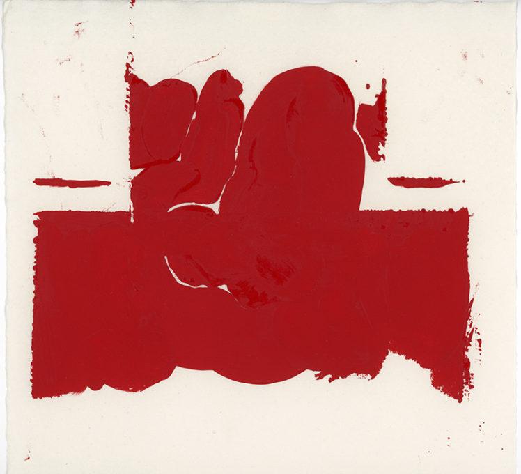 Red Drawing 05, 2015. Artist copyright © Susanna Heron.